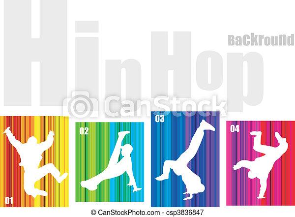 Vector hip-hop silhouette - csp3836847