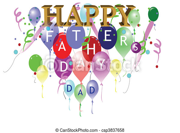 fathers day greeting - csp3837658