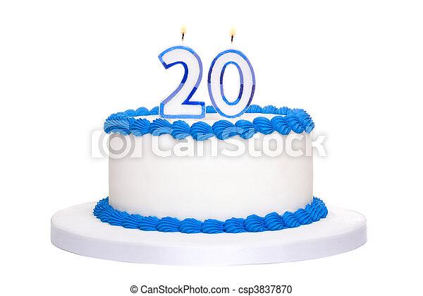 Birthday cake - csp3837870