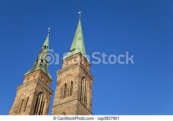 St. Sebaldus Church, Nuremberg Germany. - csp3837901