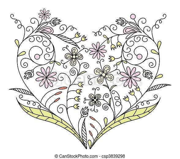 Valentines Day background, vector - csp3839298