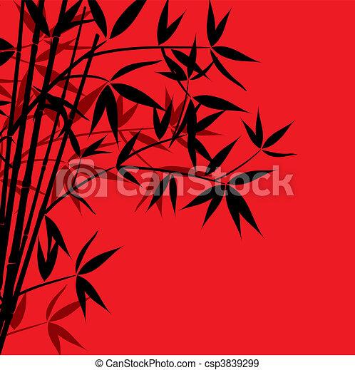 Bamboo background, vector - csp3839299