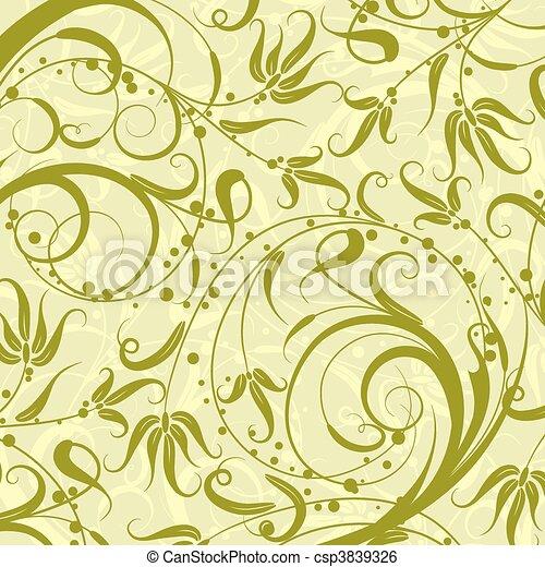 Decorative floral pattern, vector - csp3839326