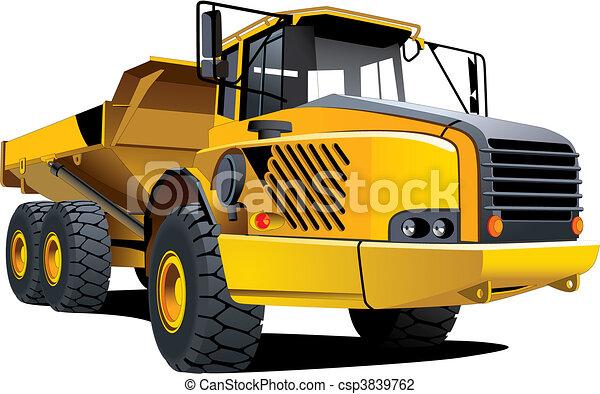 Yellow dumper - csp3839762