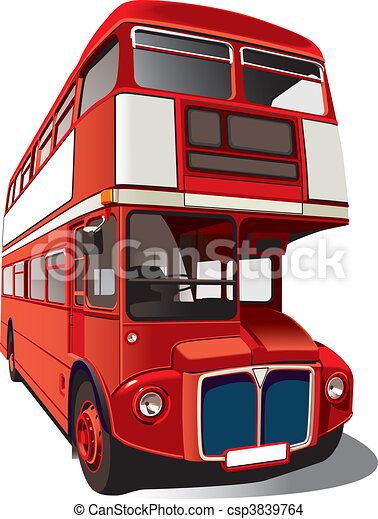 Red double-decker bus - csp3839764