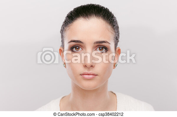 Beautiful pensive woman - csp38402212