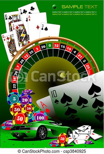 Casino elements. Vector illustrati - csp3840925