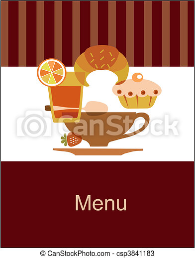 tasty breakfast menu design template - csp3841183