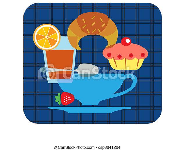 tasty tipical american breakfast set - 1 - csp3841204