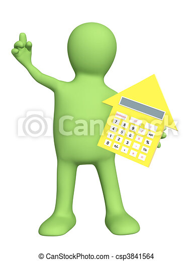 3d puppet with calculator - csp3841564
