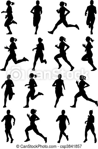 Running girl - csp3841857