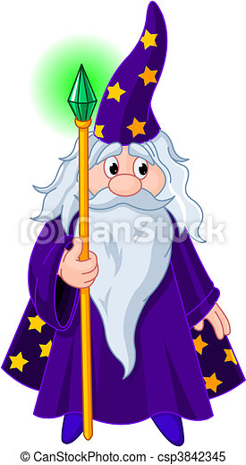 Wizard with staff - csp3842345
