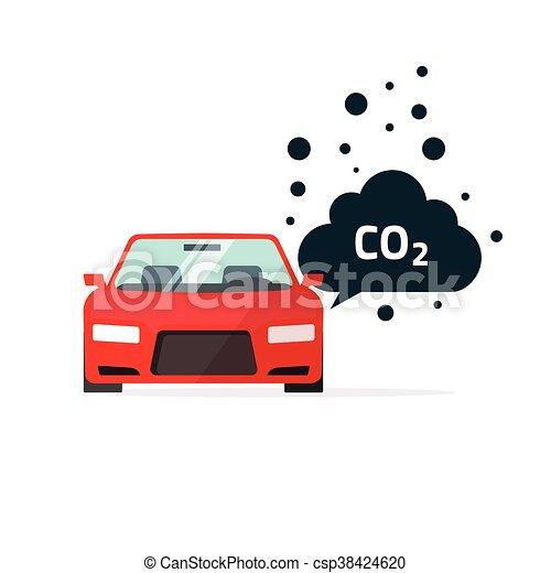 vector illustration of co2 emissions vector illustration car carbon dioxide emits. Black Bedroom Furniture Sets. Home Design Ideas