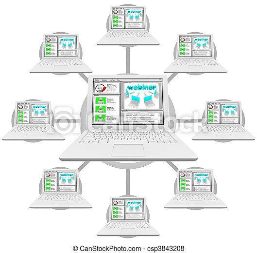 Webinar - Network of Linked Computers - csp3843208