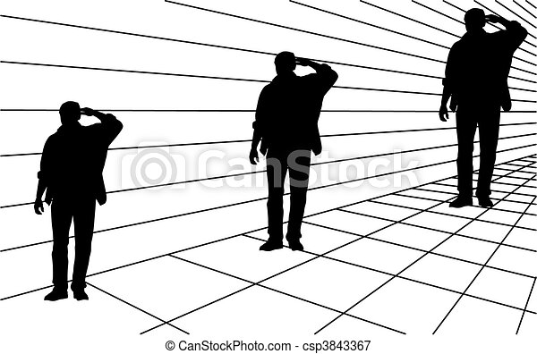 Optical illusion the same size - csp3843367