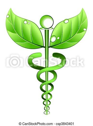 Medicina, alternativa, símbolo - csp3843401