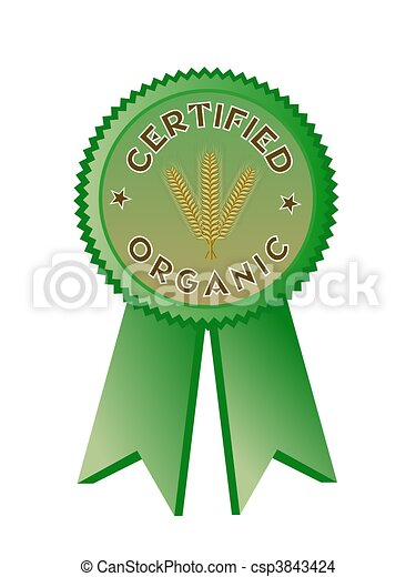 Certified Organic Food Label - csp3843424