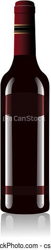 Red Wine Bottle Vector - csp3843480