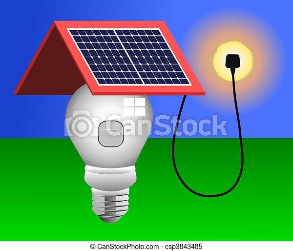 Solar Panels, Energy, Light - csp3843485