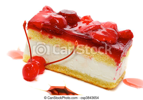 Stock Photo of cake with strawberry topping csp3843654 ...
