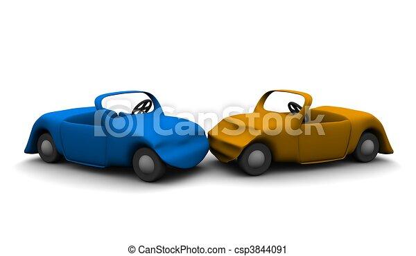 Clipart de voiture rendu illustration accident 3d voiture csp3844091 recherchez des - Accident de voiture dessin ...