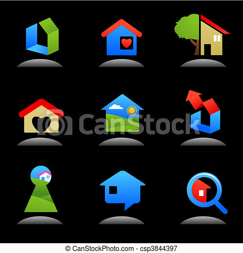 Real estate and construction icons / logos - 7 - csp3844397