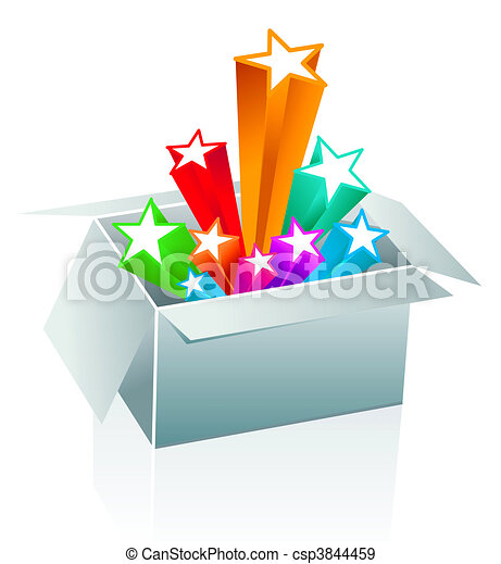 Gift box surprise - entertainment - csp3844459