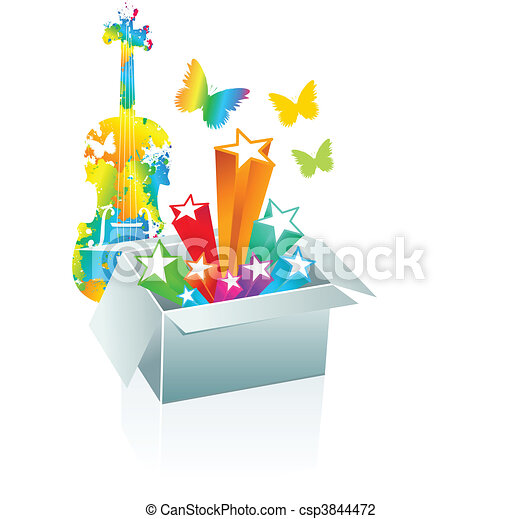 Gift box surprise - entertainment - csp3844472
