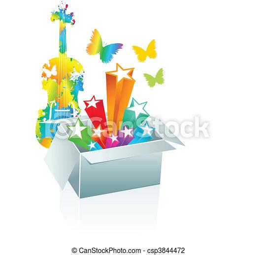 Gift box surprise - entertainment - csp3844472