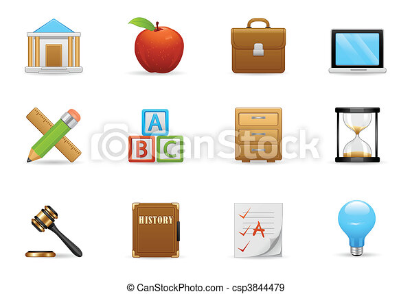 Education Icon Set - csp3844479