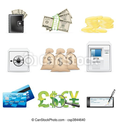 Banking and finance icons - csp3844640