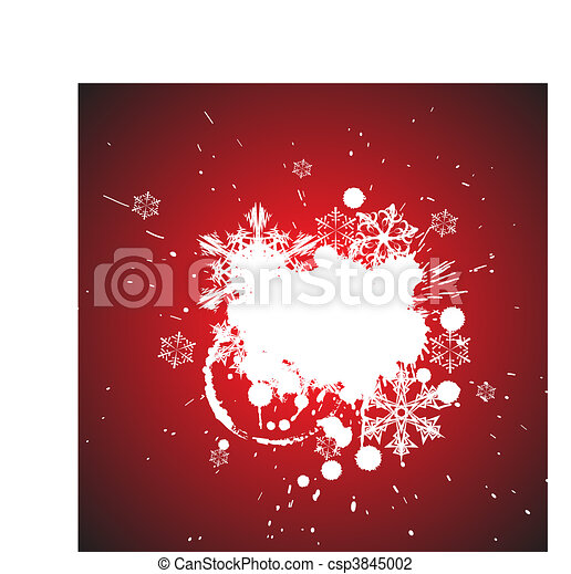 Winter abstract spots background - csp3845002