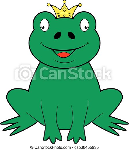 Frog wearing a crown - csp38455935