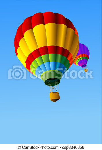Hot Air Balloons Background - csp3846856