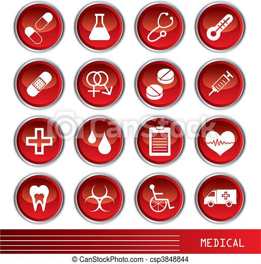 Medical icons set - csp3848844