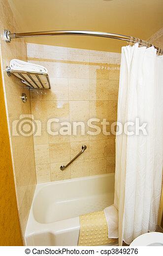 stock bild von badezimmer inneneinrichtung vorhang. Black Bedroom Furniture Sets. Home Design Ideas