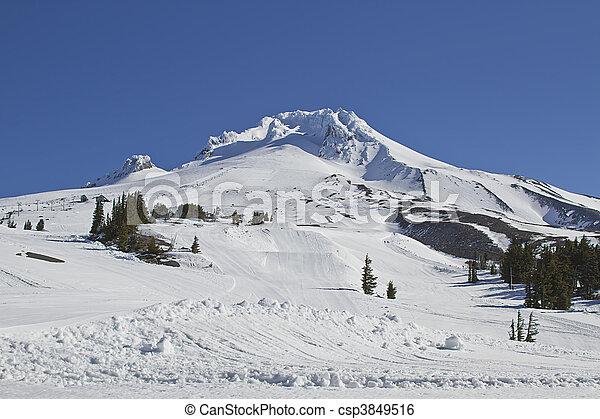 Mount Hood Ski Slope 3 - csp3849516