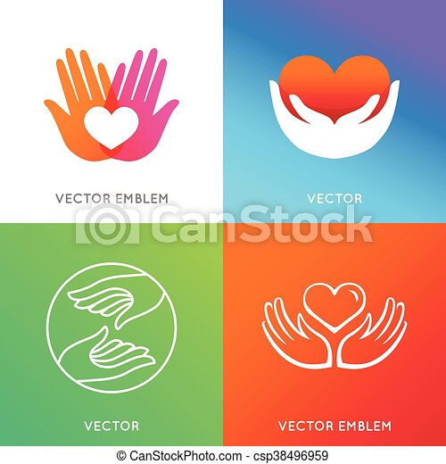 Vector charity and volunteer concepts - csp38496959