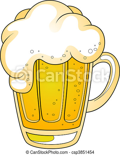Mug of beer - csp3851454