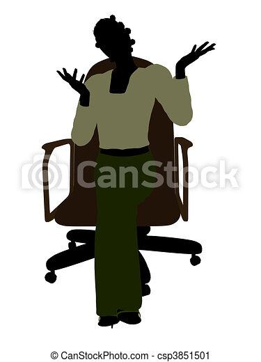 Clipart von afrikanisch amerikanische weibliche - Amerikanische stuhle ...