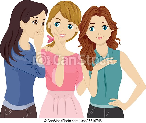 Teens Gossip - csp38519746