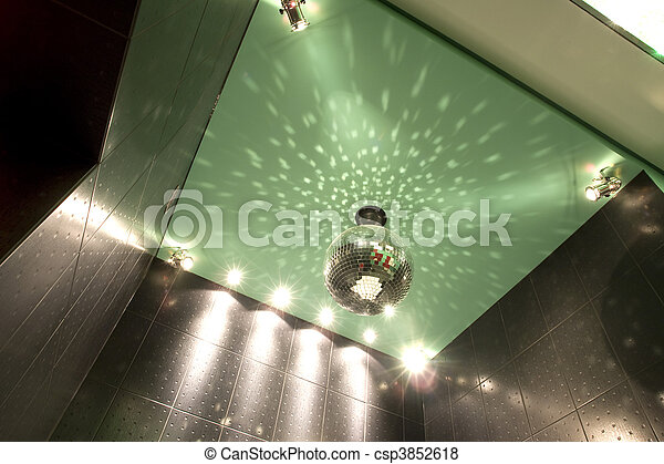 mirror ball on the ceiling  - csp3852618