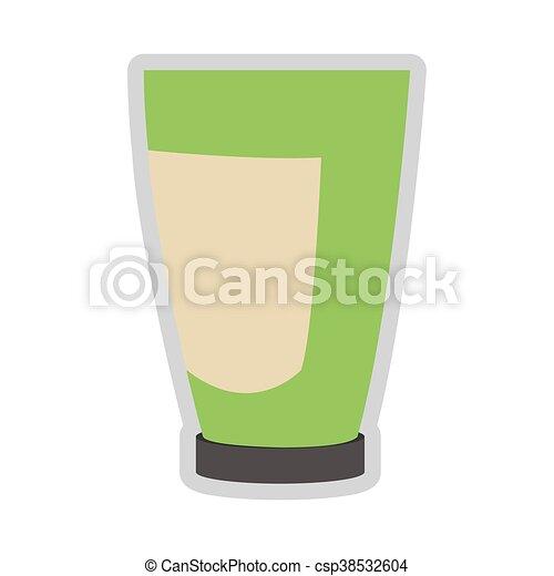 cosmetic plastic bottle icon - csp38532604
