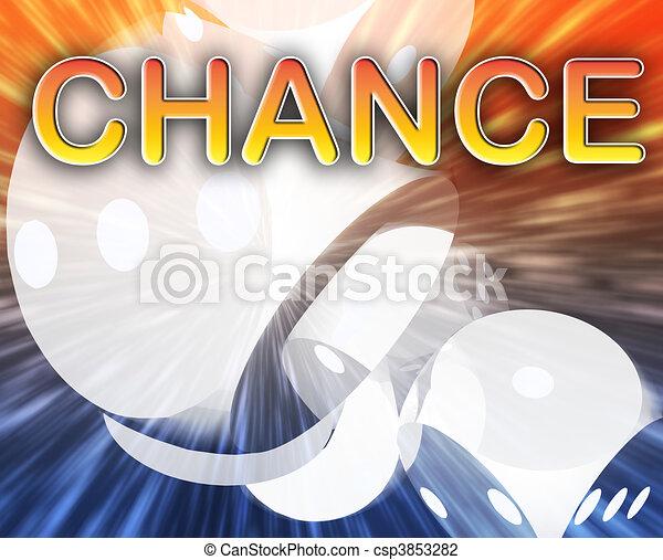 Gambling dice chance background - csp3853282