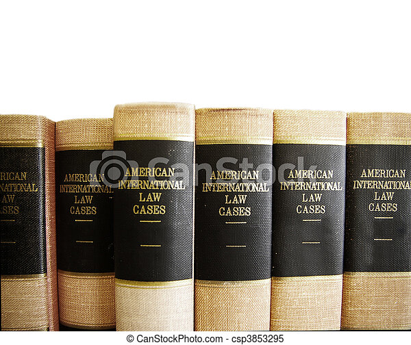 Law books in a row, on white - csp3853295