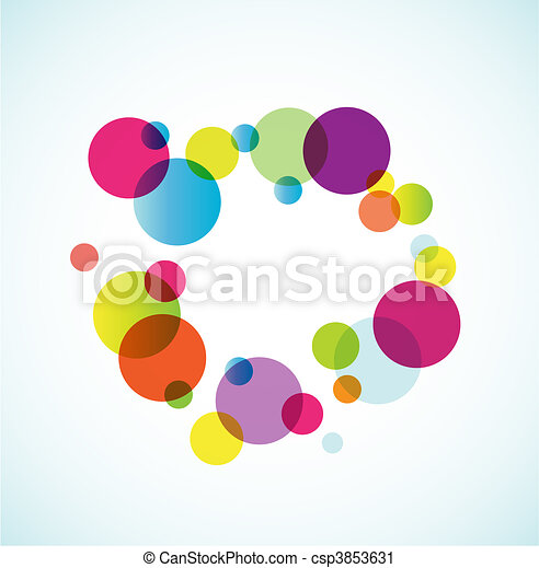 Abstract colored background with circles. - csp3853631
