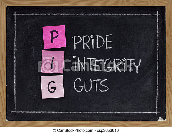 pride, integrity and guts - csp3853810