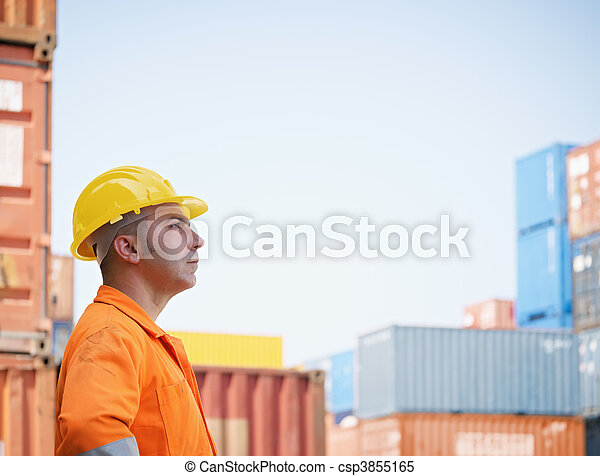 armazém,  Industrial, trabalhador - csp3855165