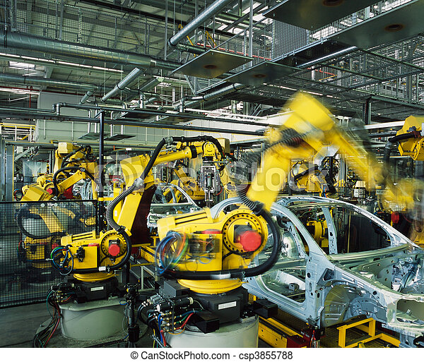 car production line - csp3855788