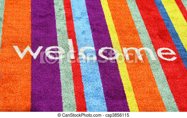 Welcome Sign In Carpet - csp3856115